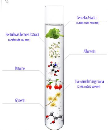 Thành phần sữa rửa mặt Repair Solution Cleanser