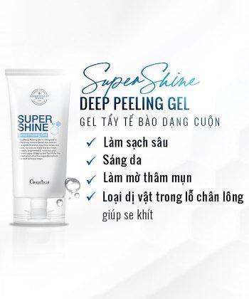 Gel tẩy tế bào chết dạng cuộn Supershine Deep Peeling Gel chính hãng